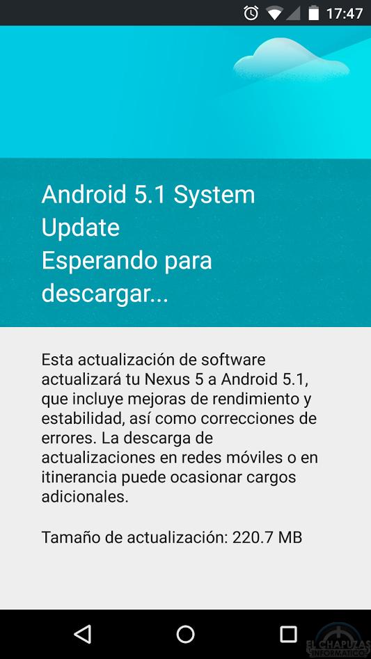 Android 5.1 Nexus 5