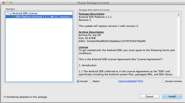 Android SDK 5.1.1