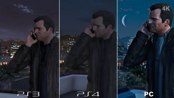 GTA V PS3 vs PS4 vs PC 4K