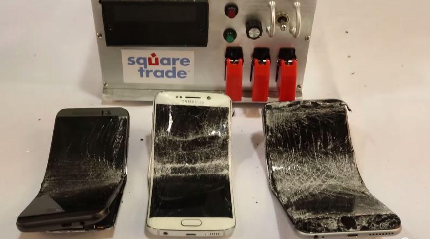 Galaxy S6 Edge vs One M9 vs iPhone 6 Plus Bend Test