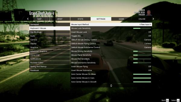 Grand Theft Auto V - Menú configuración (4)