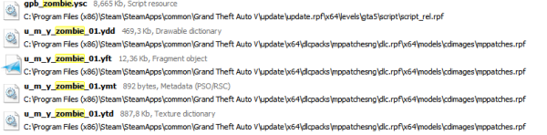 Grand Theft Auto V Zombie archivos