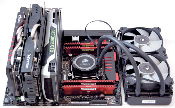 Intel i7 5960X junto a tres GeForce GTX 980