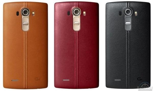 LG G4 acabados en piel