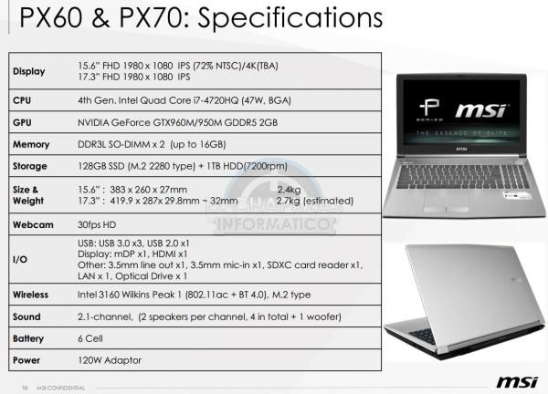 MSI PX60 y MSI PX70
