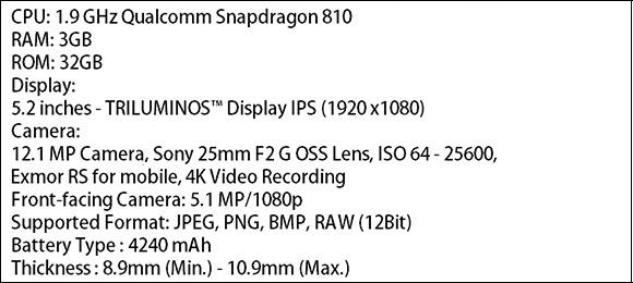 Sony Xperia P2 Especificaciones