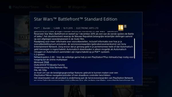 Stars Wars Battlefront 720 PlayStation Store