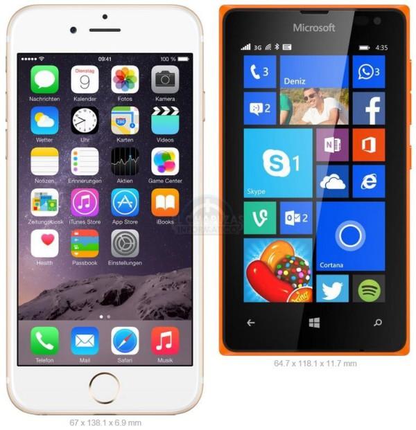 iPhone 6 vs Lumia 435