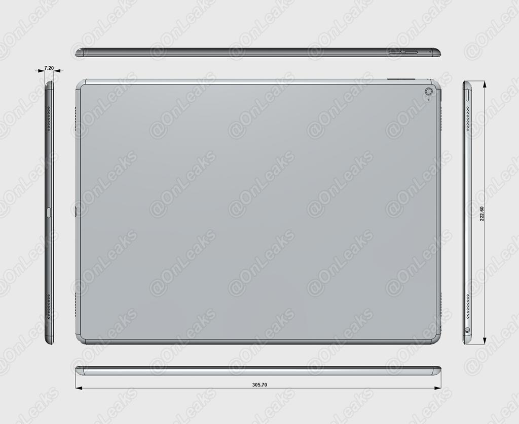 Apple iPad Pro Render dimensiones