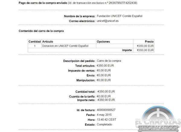 Donación Uniceft El Chapuzas Informatico