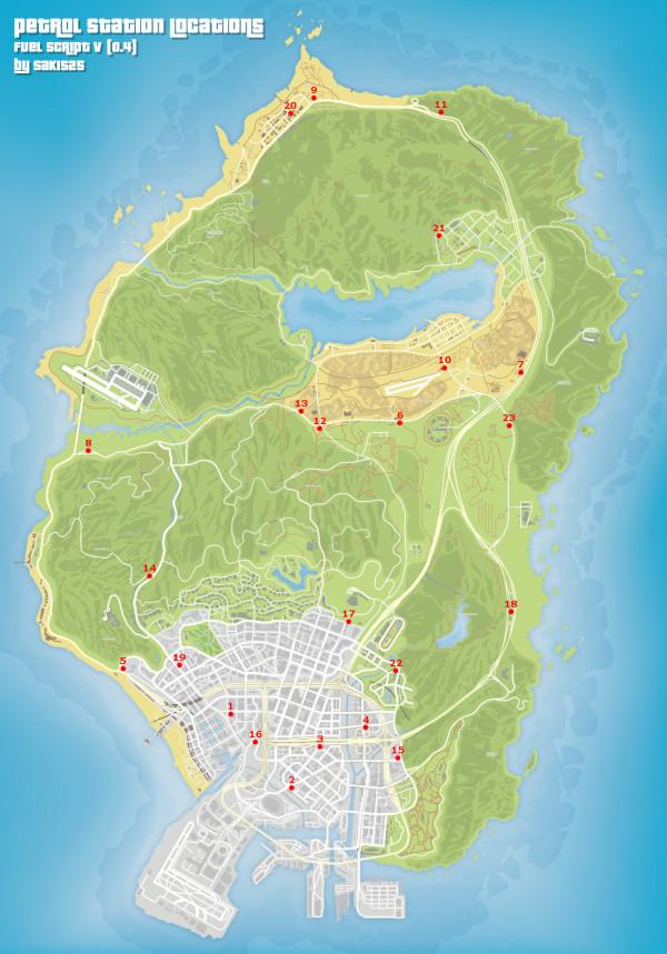 Grand Theft Auto V - Gasolineras