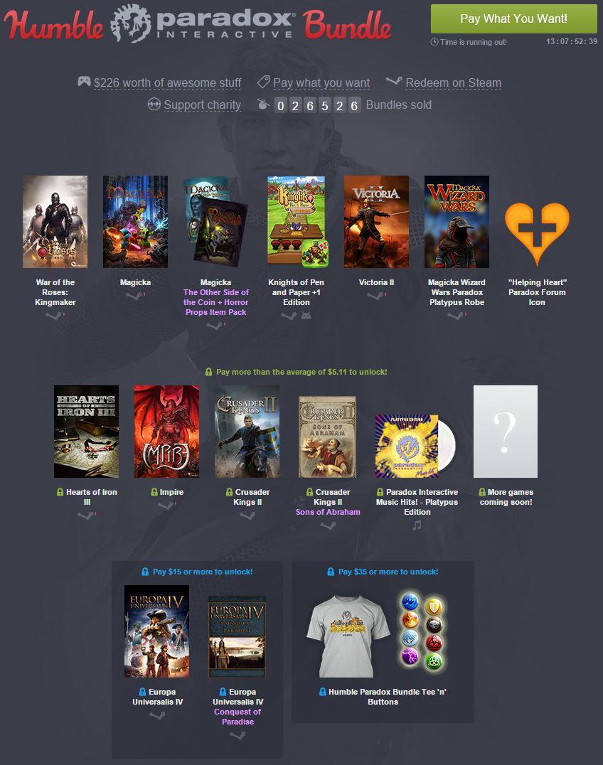 Humble Paradox Interactive Bundle