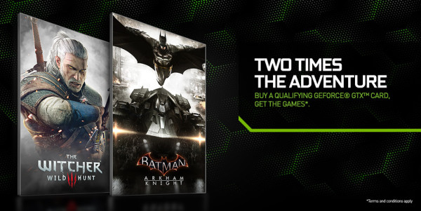Nvidia The Witcher 3 y Batman Arkham Knight