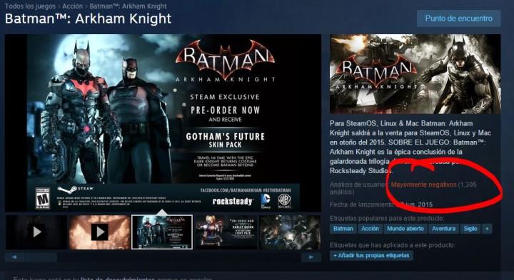 Batman Arkham Knight Steam