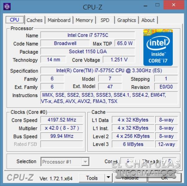 Intel Core i7 5775C 10 OC