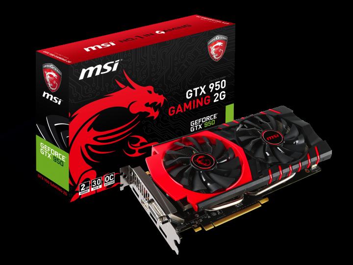 MSI GeForce GTX 950 Gaming 2G Oficial