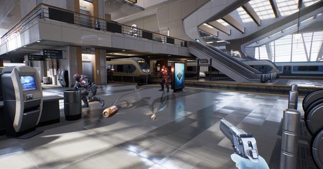 Bullet Train: Un juego con gráficos Unreal Engine 4 para Oculus Rift