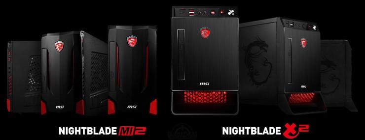 MSI Nightblade X2 y MSI MI2