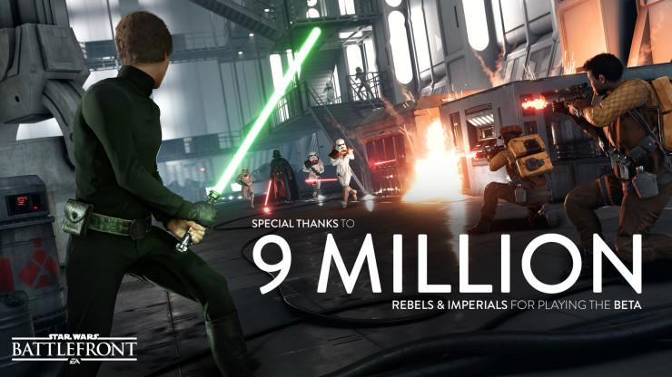 Star Wars Battlefront 9 millones