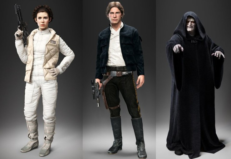 Star Wars Battlefront - Han Solo, Leia y Palpatine