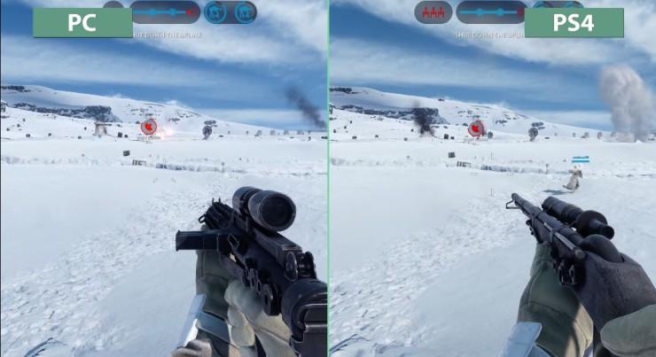 Star Wars Battlefront - PC vs PlayStation 4