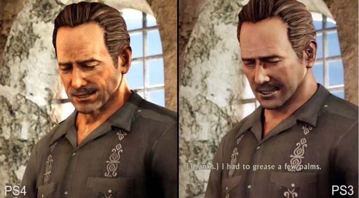 Uncharted 2 Among Thieves en Playstation 4 vs Playstation 3