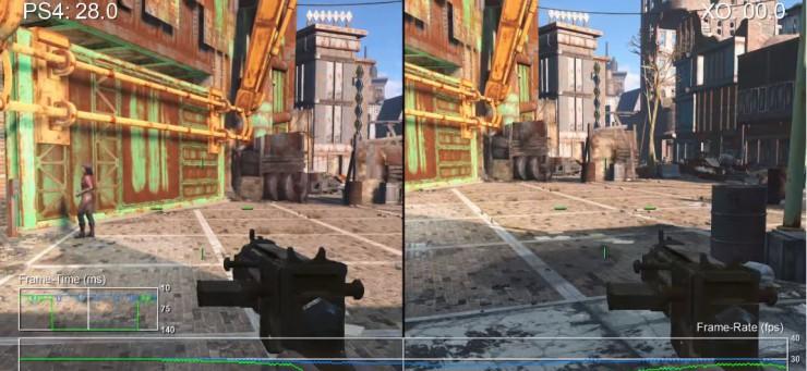 Fallout 4 en PlayStation 4 vs Xbox One