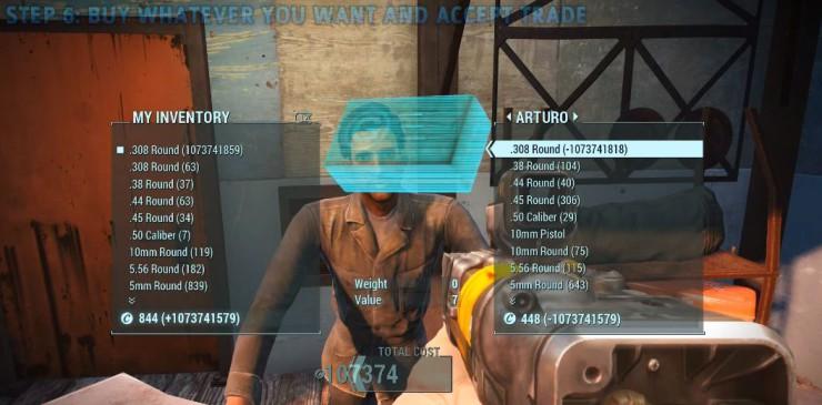 Fallout 4, fallo dinero