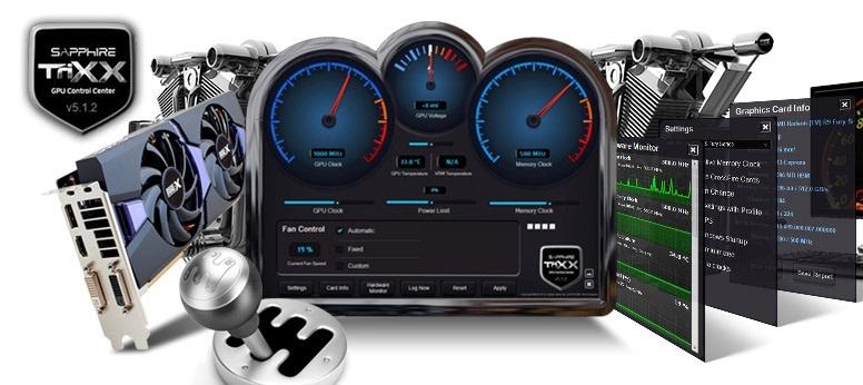Sapphire Trixx permite overclockear la GPU y HBM de las Radeon Fury