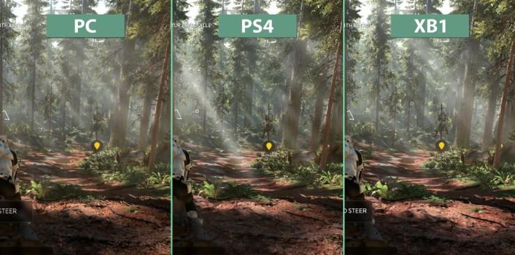 Star Wars Battlefront en PC vs PlayStation 4 vs Xbox One