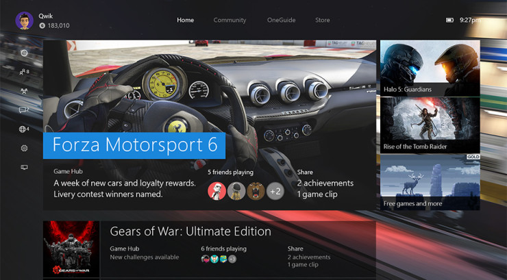 Xbox One - New Xbox One Experience - Windows 10