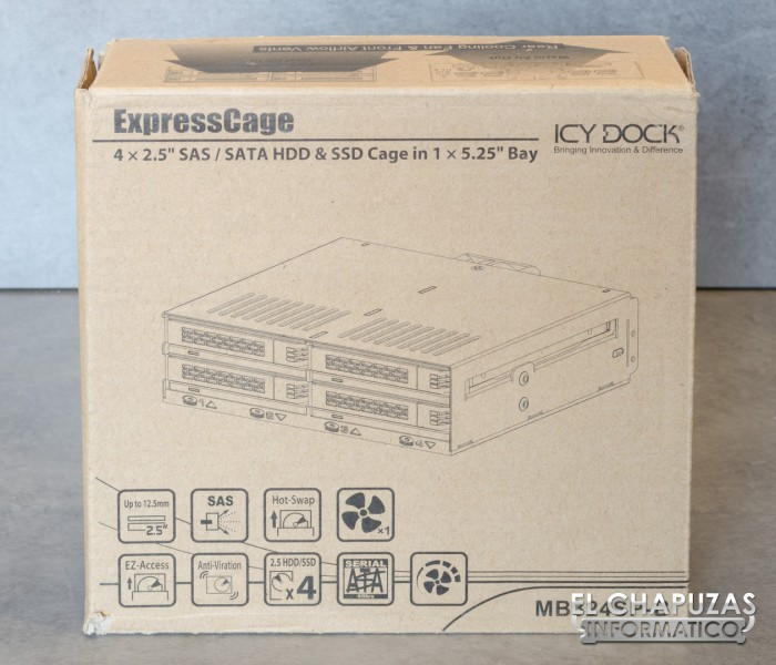 Icy Dock ExpressCage MB324SP-B 01