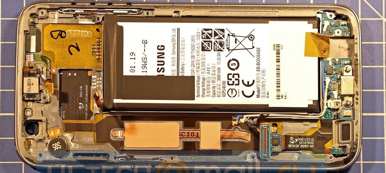 Samsung Galaxy S7 despiece heatpipe cobre portada