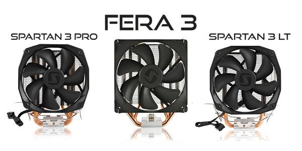 Disipadores SilentiumPC Spartan 3 LT, Spartan 3 Pro y Fera 3
