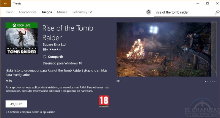 Windows Store - Rise of the Tomb Raider