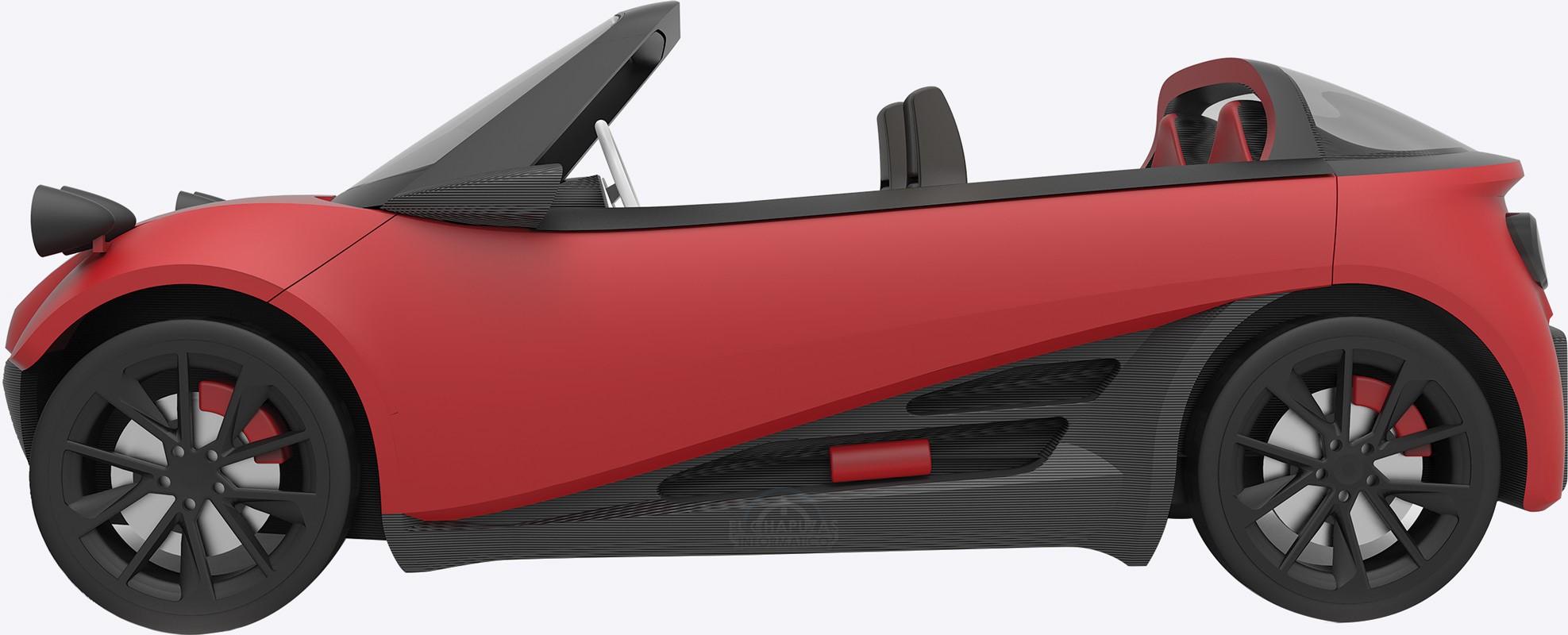 LM3D Swim, el coche fabricado con una impresora 3D