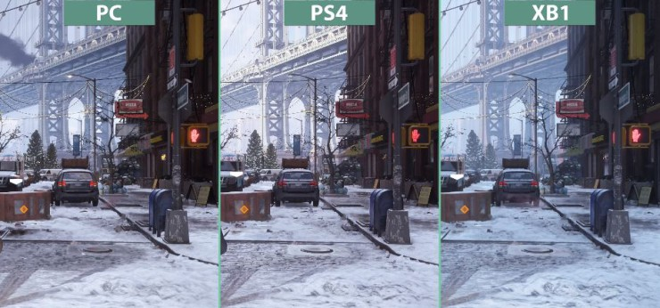 The Division PC vs PlayStation 4 vs Xbox One