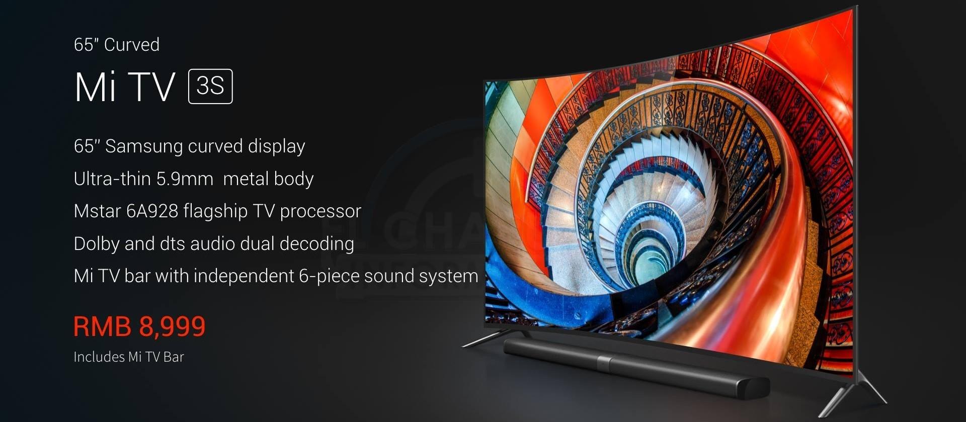Xiaomi Mi TV 3S anunciada en tamaños de 43 y 65 pulgadas