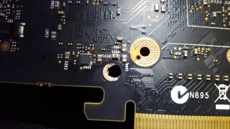 Zotac GeForce GTX 980 Ti AMP! pcb perforado (3)