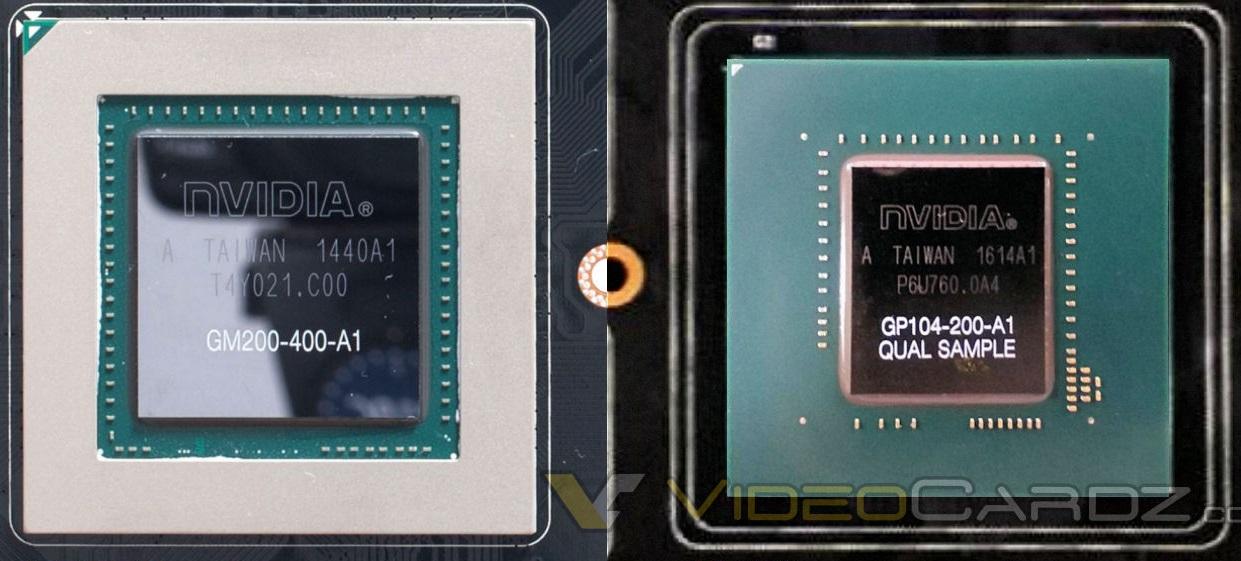 GPU Pascal GP104 fotografiada y la GeForce GTX 1080 con GDDR5X