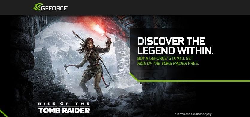 Rise of the Tomb Raider gratis con la GeForce GTX 960