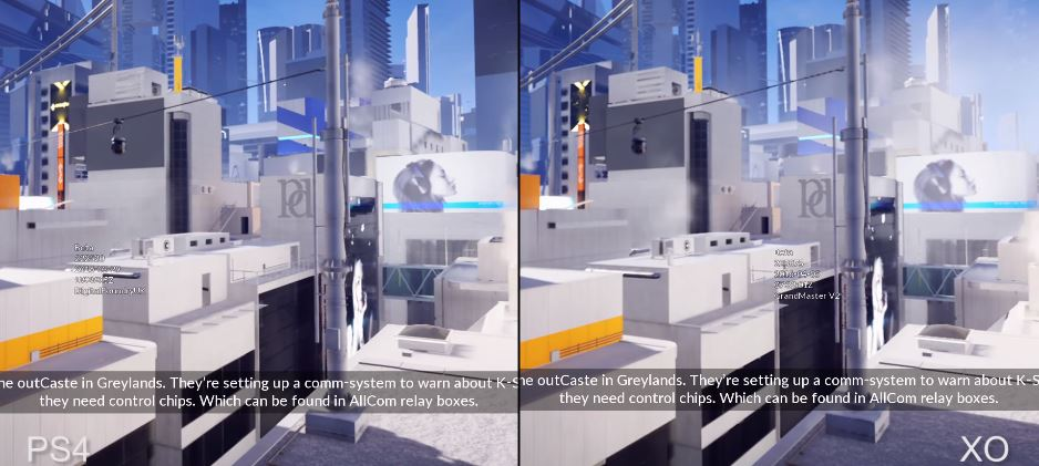 Mirror 39 s edge catalyst en pc vs ps4 900p vs xbox one for Mirror xbox one to pc