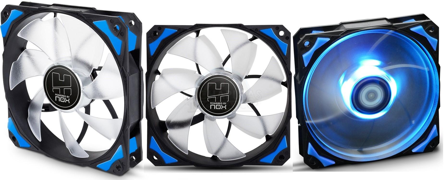 Nox H-FAN: Nueva línea de ventiladores de 120mm con/sin LEDs