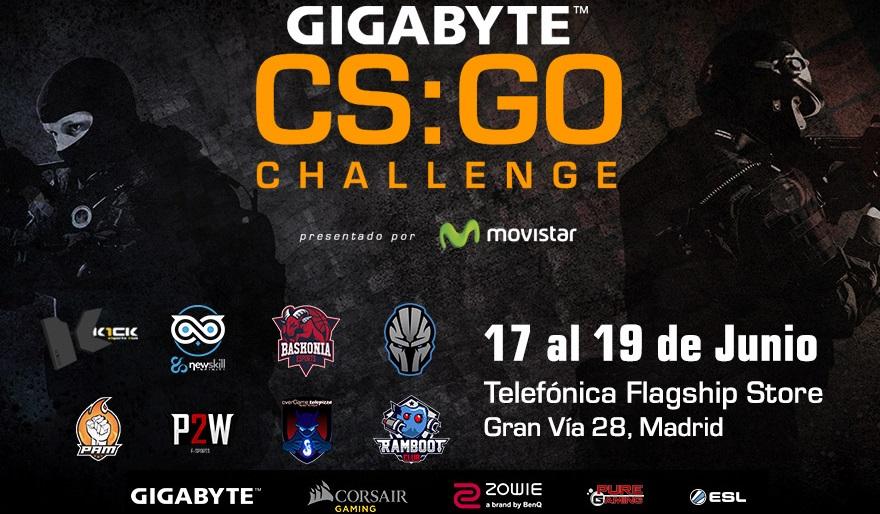 Gigabyte CS:GO Ghallenge, del 17 al 19 de Junio en Madrid