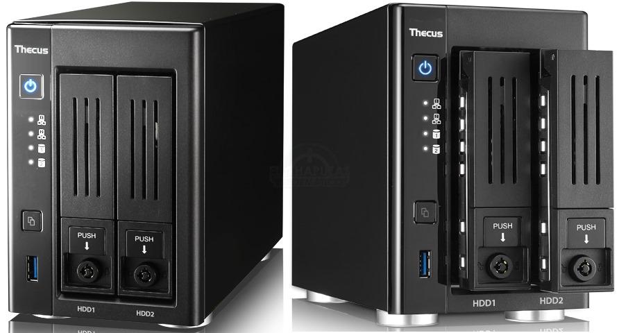 Thecus N2810 Pro: Procesador más potente y más RAM