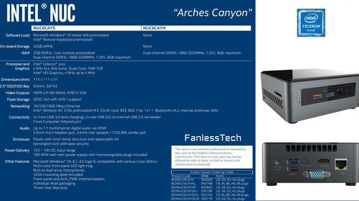 Intel NUC Arches Canyon