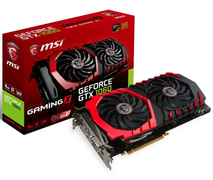 MSI GeForce GTX 1060 Gaming X Oficial