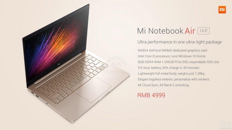 Xiaomi Mi Note Book Air 13.3 pulgadas