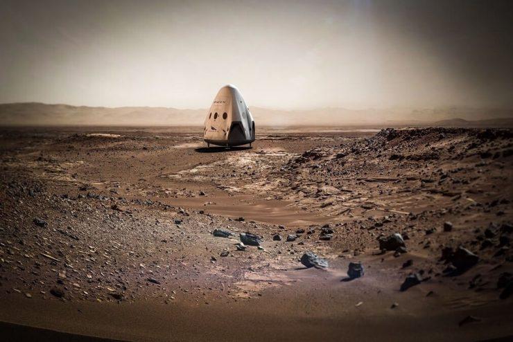 Capsula Dragon en Marte