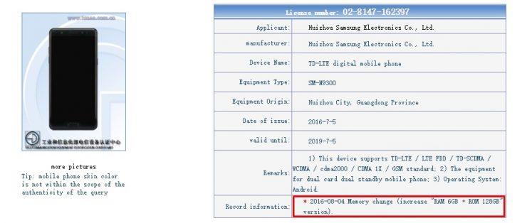 Galaxy Note7 6GB RAM